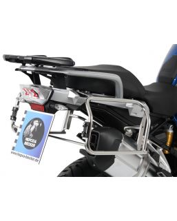 Hepco & Becker Cutout Side Carrier With Black Xplorer Cases For BMW R1200GS LC '13- & Adv. '14-