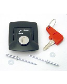 Latch Assy, lid to case (Black)