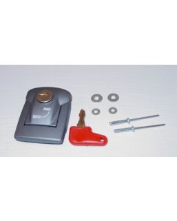 Latch Assy, lid to case (Silver)