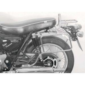 Leather Bag Holder - Kawasaki W 650 / 800 in Black