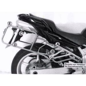 Side Carrier - Yamaha FZ 6 / Fazer up to 06' in Black