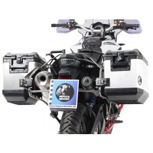 Hepco & Becker Cutout Side Carrier With Black Xplorer Cases For BMW F650GS, F700GS, F800GS