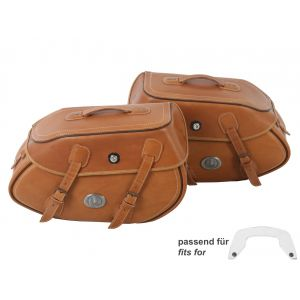 Hepco & Becker Buffalo Leather Bag Set 30 Liters for C-Bow Carrier In Brown