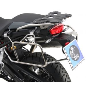 Hepco & Becker Cutout Side Carrier With Silver Xplorer Cases for BMW F750GS & F850GS