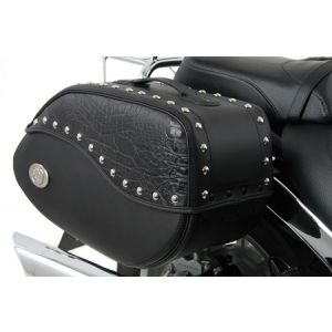 Ivory Black leather bag - 30 liters