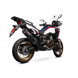 Scorpion Serket Parallel Slip-On Exhaust Honda Africa Twin CRF1000L 2015-2017