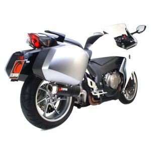 Scorpion Factory Oval Slip-On Exhaust Honda VFR1200 With OEM Panniers 2010-2017