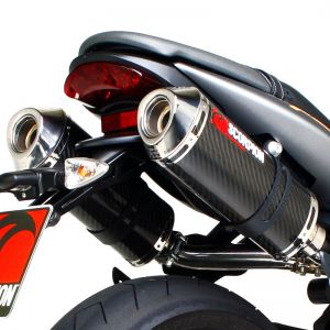 Scorpion Factory Oval Slip-On Exhaust Triumph Street Triple 675 2007-2012