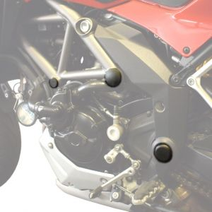 Pyramid Plastics Frame End Caps for Ducati Multistrada 1200, 1200S