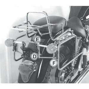 Rear Rack - Triumph Bonneville America / Speedmaster up to 10'