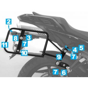 Lock-it Side Carrier - Yamaha FZ 6 / Fazer in Black