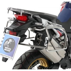 Hepco & Becker Cutout Side Carrier With Black Xplorer Cases For Honda CRF1000L Africa Twin 16'-
