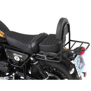 Hepco & Becker Sissybar With Rear Rack Moto Guzzi V9 Roamer (For Long Seat Versions) Black