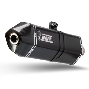 MIVV Exhaust Speed Edge Full System Suzuki Burgman 400 2006-2016 Black