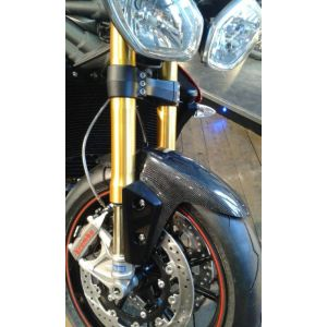 Pyramid Plastics Extended Front Mudguard (Real Carbon) for Triumph Speed Triple '12