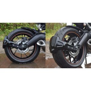 Pyramid Plastics Rear Spray Guard (Black) for Yamaha MT-09, FZ-09, XSR900 '13-'16