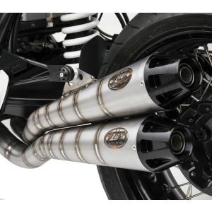 ZARD Exhaust Full System 2 Into 1 to 2 BMW R NineT Titanium High Mount