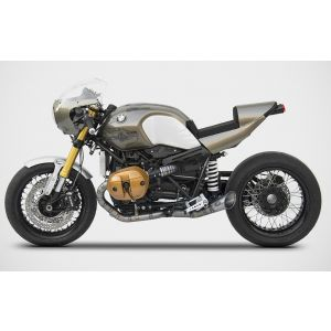 ZARD Exhaust Full System 2 Into 1 to 2 BMW R NineT Titanium Low Mount
