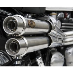 ZARD Exhaust High Mount Full System Triumph Bonneville T120 2016-2019