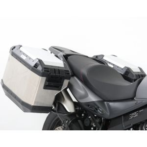 Hepco & Becker Cutout Side Carrier With Xplorer Cases For Suzuki V-Strom 650 '12-